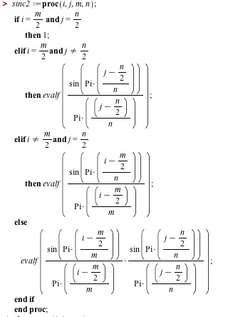 Best way to fill a matrix using a math function and