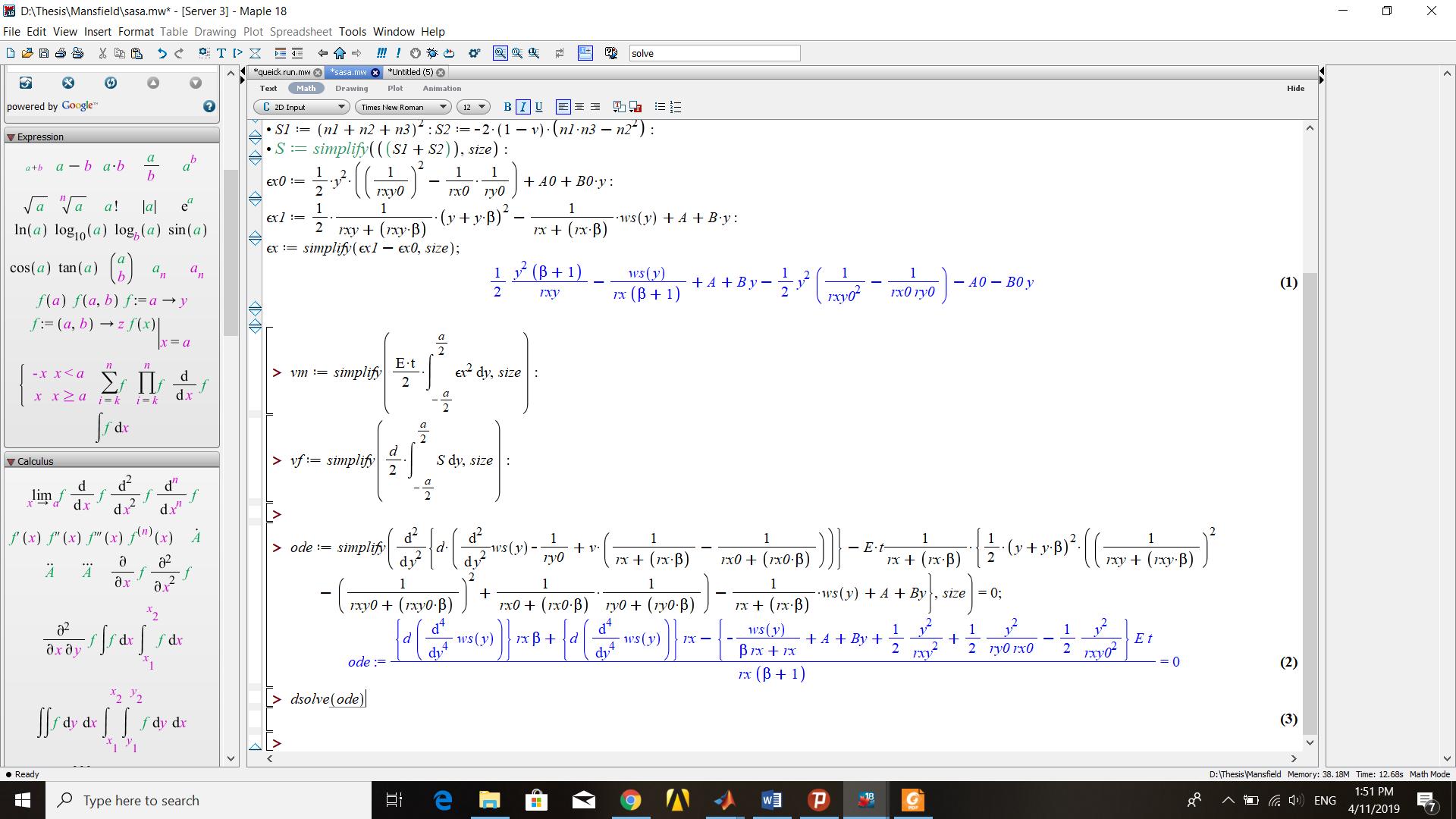 solve diff equation - MaplePrimes