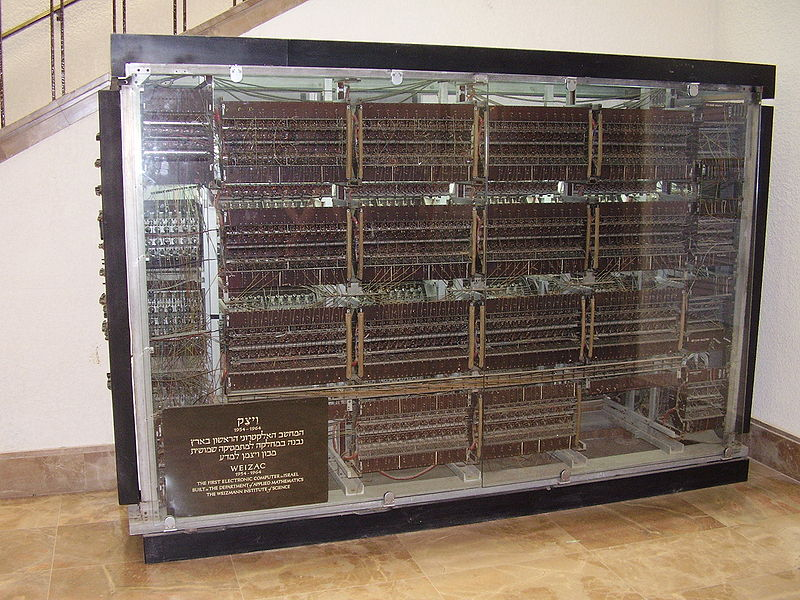 The WEIZAC computer currently on display [image from Wikipedia]