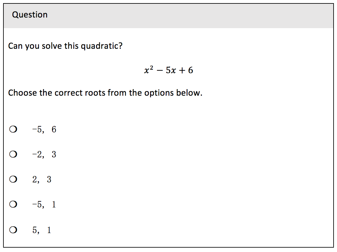 VLE Question